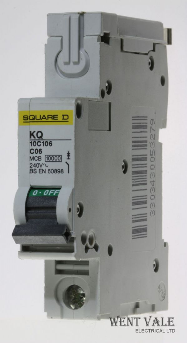 Square D Loadcentre - KQ10C106 - 6a Type C Single Pole MCB Used
